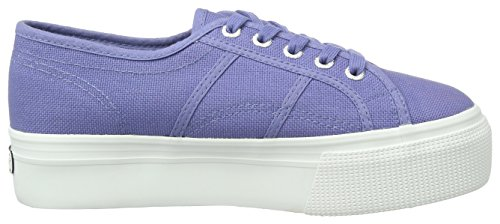 Superga blue Linea Up Velvet Basses Femme Blau Baskets Down Acotw And 2790 rqpTr
