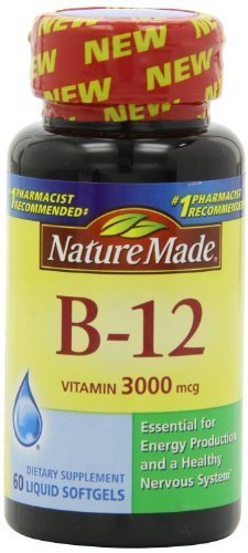 Nature Made Vitamin B-12 Softgels, 3000 Mcg, 60 CT (PACK OF 4) by Nature Made by Nature Made