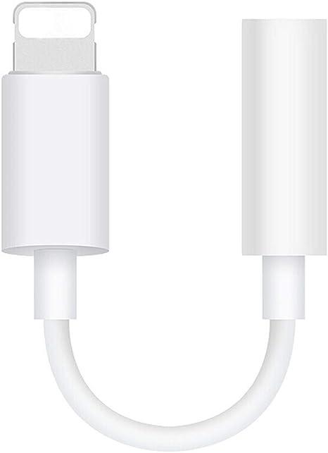 Blanc Luvfun Adaptateur Jack pour iPhone 3.5 mm Adaptateur de Casque Audio Haute R/ésolution Adaptateur pour iPhone
