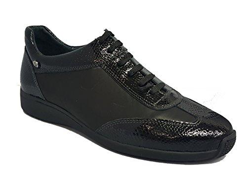NEGRO de máxima FLEX GO Zapato comodidad 3520 Confort Piel amp; en Hecho wqIX6IP
