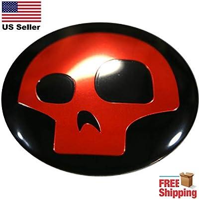 "3D Metal Dome Shape Skull Funky Punisher Emblem Wall Art | Size 2.2"" Banner Poster Sticker Vinyl | 3D Metal Dome Shape Skull Funky Punisher Emblem car Decal"