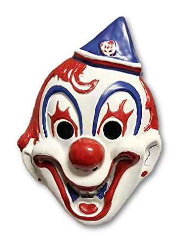 Morbid Enterprises Circus Clown Mask, Red/White/Blue, One