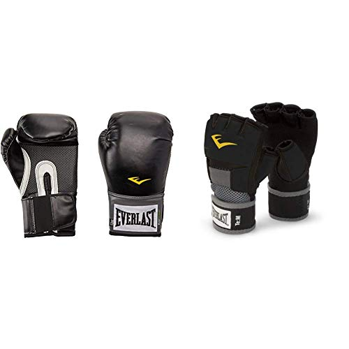 Everlast Pro Style Training Gloves (16 oz.) and EverGel Hand Wraps