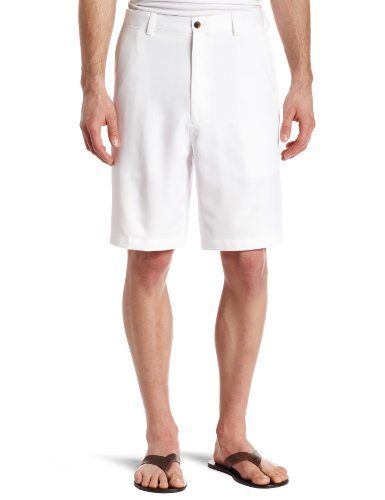 Slant Tall Pockets Shorts Big And (Haggar Mens Cool 18 Gabardine Plain Front Short, White, 44)