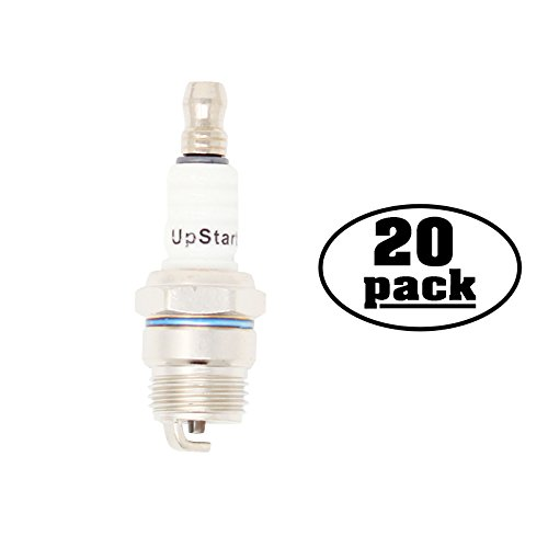 UpStart Components 20-Pack Compatible Spark Plug for HOMELITE Blower VacAttack II, Yard Broom II - Compatible Champion DJ7Y & NGK BPM7F Spark Plugs