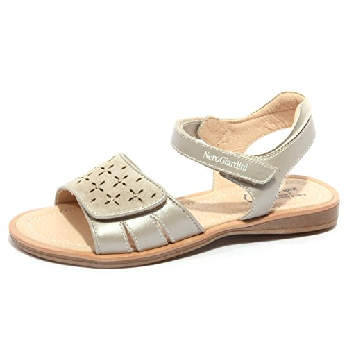 B1840 Kids Giardini Bimba Scarpa Beige Sandalo Nero Shoes 5qYRZR