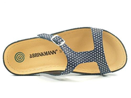 Pantoletten Dr Schuhe Brinkmann Blau Clogs Sandalen 701034 Damen wwqZWfv8I