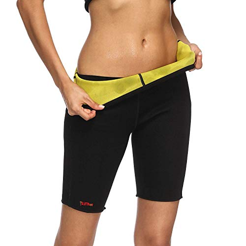 Bio Ceramic Anti Cellulite Shorts - SlimHot® Hot Slimming Pants Bermuda Shorts, Anti-cellulite Body Shape Wear for Weight Loss, M Black