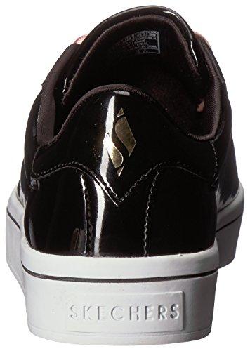 Women Street Skechers Lite Lace Hi Patent Black Cvxqx58w