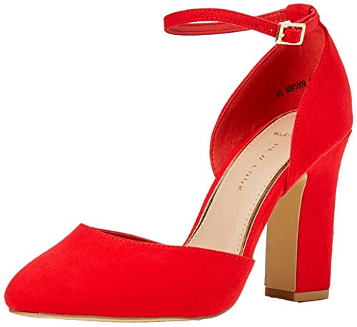 Punta Scarpe Donna Bright 60 Red Look Chiusa New col Foot Red Rachel Wide Tacco 0wPIz