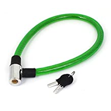 uxcell® Bicycle Motorcycle Plastic Coated Security Cable Lock 63cm Long Green