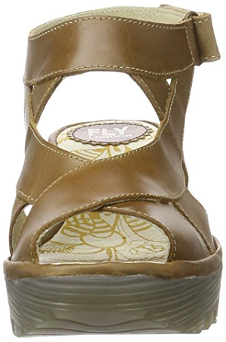 Yona737fly Wedge Braun Damen 001 FLY Sandalen London Camel qgx1wHzZH