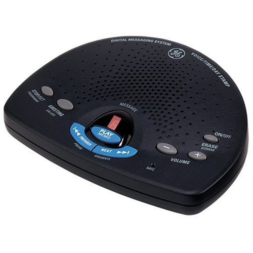 GE 29875GE2 Digital Messaging System with Voice Time and Day Stamp - Black by Thomson