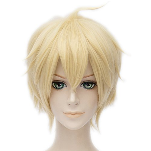 MSHUI Seraph of the End Mikaela Hyakuya Anime Cosplay Wig Blonde Short Hair