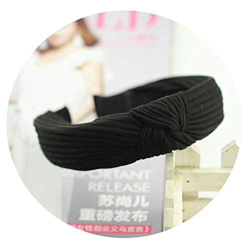 Solid Soft Knotted Flamingo Headband Hairband for Women Lady Bow Hair Hoop Hair Accessories Headwear,3 ()