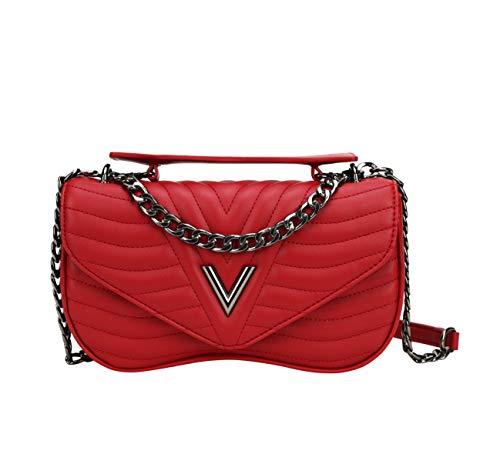 (CUIBIRD Fashion Shoulder bag for Women Small Crossbody bag Solid color Messenger bag Girls leather Shopping bag handbags ladies Mini Tote bag (Red))