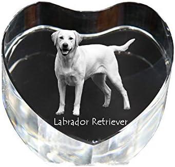 Art Dog Ltd. Labrador Retriever, crystal heart with dog, souvenir, decoration, limited edition, glass collection