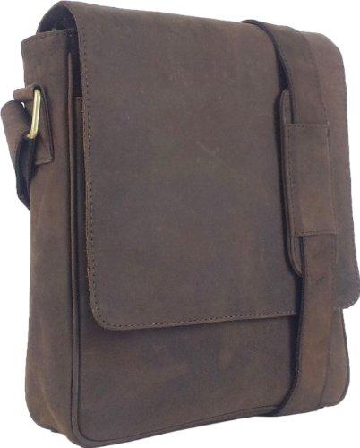 Messenger en Sac 6F ipad Messager Bag Brun cuir Ebook Tablets UNICORN Réel ou TxzvBB