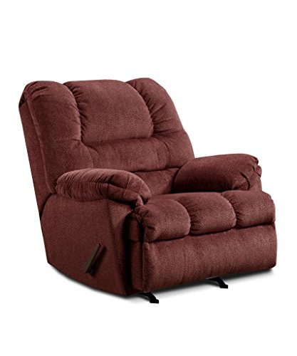 United Furniture Simmons Upholstery U600-19 Zig Zag Wine ...