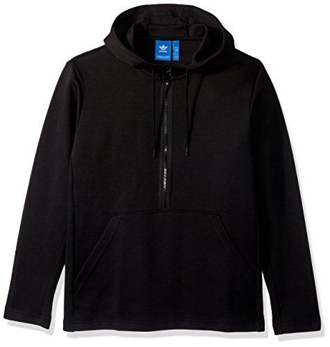 adidas Originals Men's Outerwear Curated Half Zip Jacket, Black, ()