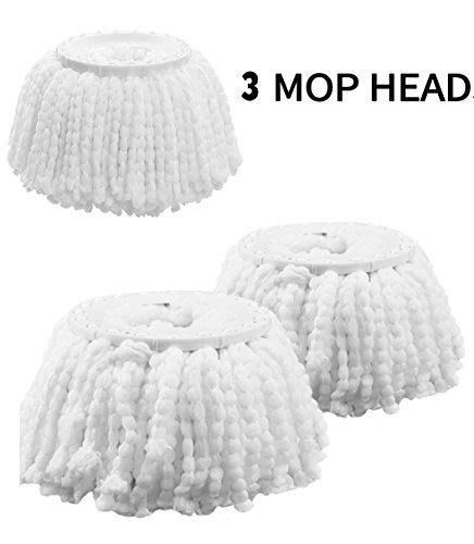 Hurricane Compatible Mop Head 360  Spin Magic Mop Head Replacement Mop Head Microfibers Mop Head Refill Replacement For Hurricane Mopnado Egoflex Hapinnex 3Pack