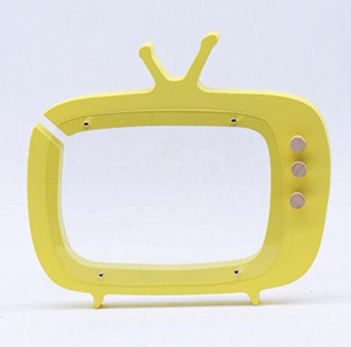 Dalino Babys Toys Wooden Cartoon TV Piggy Bank Children's Room Decoration Background Shoot Props(Yellow) by Dalino
