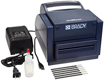 Brady 52041 MiniMark Depth, Vinyl, Polyester Die-cuts, Self Lams, Industrial Label Printer