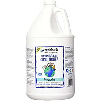Earthbath Oatmeal & Aloe Conditioner, Fragrance Free 128 oz(1 gal)