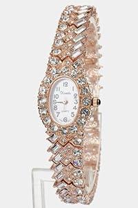 Trendy Fashion Jewelry Multi-Colored Crystal Watch By Fashion Destination