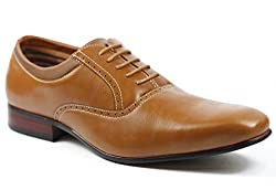 Ferro Aldo MFA-19386L Brown Men's Lace Up Oxford Dress Shoes (8)