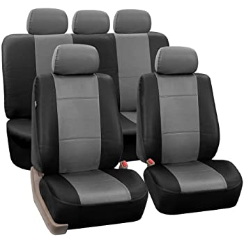FH PU002115 Classic PU Leather Car Seat Covers Airbag Compatible And Split Bench