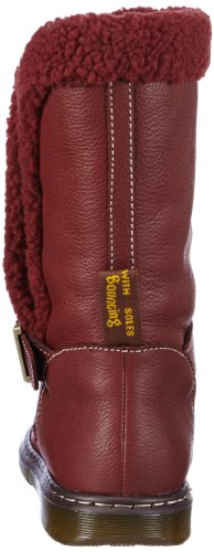 Dr. Martens Womens Brielle Rigger Boot Boot Rosso Ciliegia