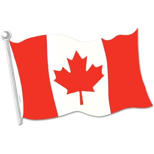 Canadian Flag Cutout Party Accessory (1 count) (Halloween Costumes Canada)