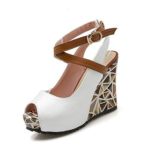 Sandals Woman vovmi Slingback Shoes Casual Female Platform Shoes Lady White gddqRvwC