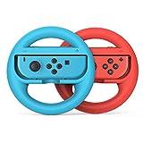 TechKen Switch Big Joy Con Wheel for Nintendo, Mario Kart Games Remote Steering Racing Driving Wheels Set of 2