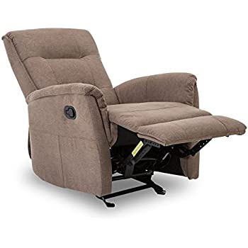 BONZY Glider Recliner Chair With Super Comfy Gliding Track Overstuffed  Backrest, Comfy Recliner Sofa
