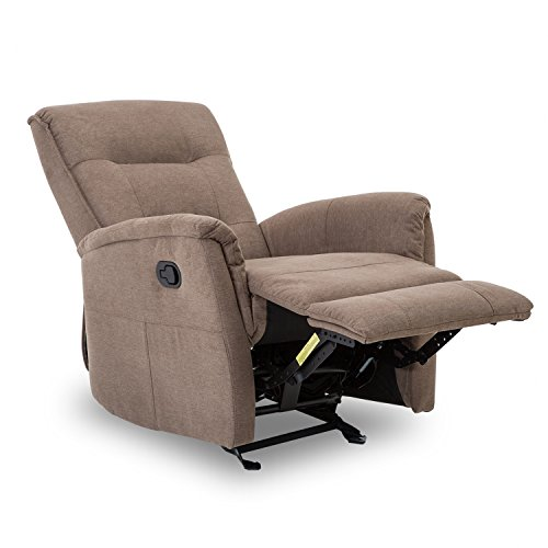 BONZY Glider Recliner Chair with Super Comfy Gliding Track Overstuffed Backrest, Comfy Recliner Sofa – Smoke Gray