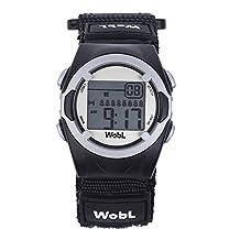 WobL Children's 8 Alarm Vibrating Watch - Black