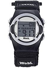 WobL Black 8 Alarm Vibration Reminder Watch
