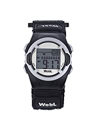 WobL Children's 8 Alarm Vibrating Watch - Black