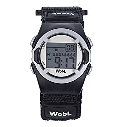 WobL - Black 8 Alarm Vibrating Reminder Watch