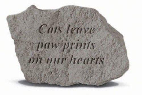 Cats Leave Paw Prints Pet Memorial Garden Stone