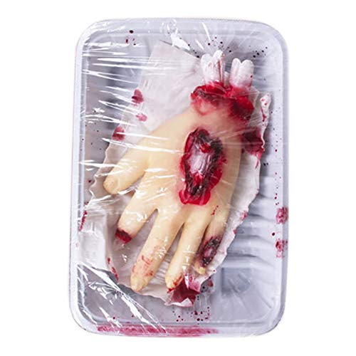MacRoog Fast Food Hand Halloween Decoration Party Scary Decor Latex Props Outdoor Garden Decor