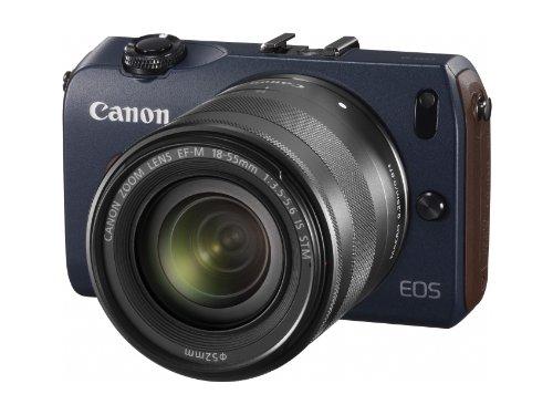 Canon ミラーレス一眼カメラ EOS M ダブルレンズキット EF-M18-55mm F3.5-5.6 IS STM/EF-M22mm F2 STM付属 ベイブルー EOSMBL-WLK