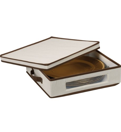 MD Group Vision Canvas Charger Plate Chest, 4'' x 15'' x 5.5 lbs