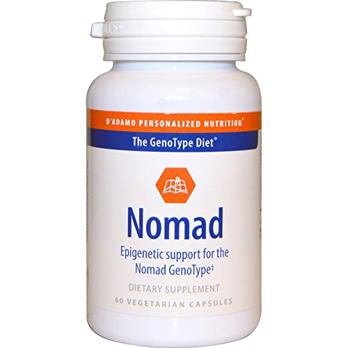 D'adamo, Nomad, Epigenetic Support for the Nomad GenoType, 60 Veggie Caps - 3PC by D'Adamo