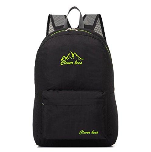 Wmshpeds Mochila plegable ultra-ligero deportes al aire libre bolsa de luz bolsa de hombro bolsa de piel bolsa plegable E