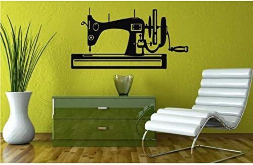 Hwhz 30 X 57 Cm Silueta De Máquina De Coser Diseñado Creativo Pegatinas De Pared Hogar Dormitorio Arte Moderno ...
