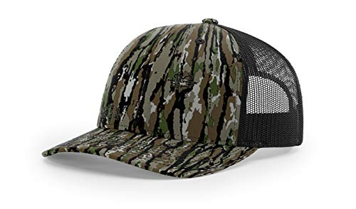 (Running Partner Richardson 112 112P Trucker Mesh Snapback Hat Curved Bill with NoSweat Hat Liner (Adjustable Snapback Realtree Colorway, Realtree Original/Black))