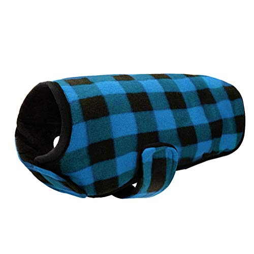 KONANE Dog Clothes Winter Waterproof Small Meidum Dog Coat Warm Thicken Fleece Lined Hooded Dog Jacket French Bulldog Pugs - Fleece Lined Corduroy Dog Coat